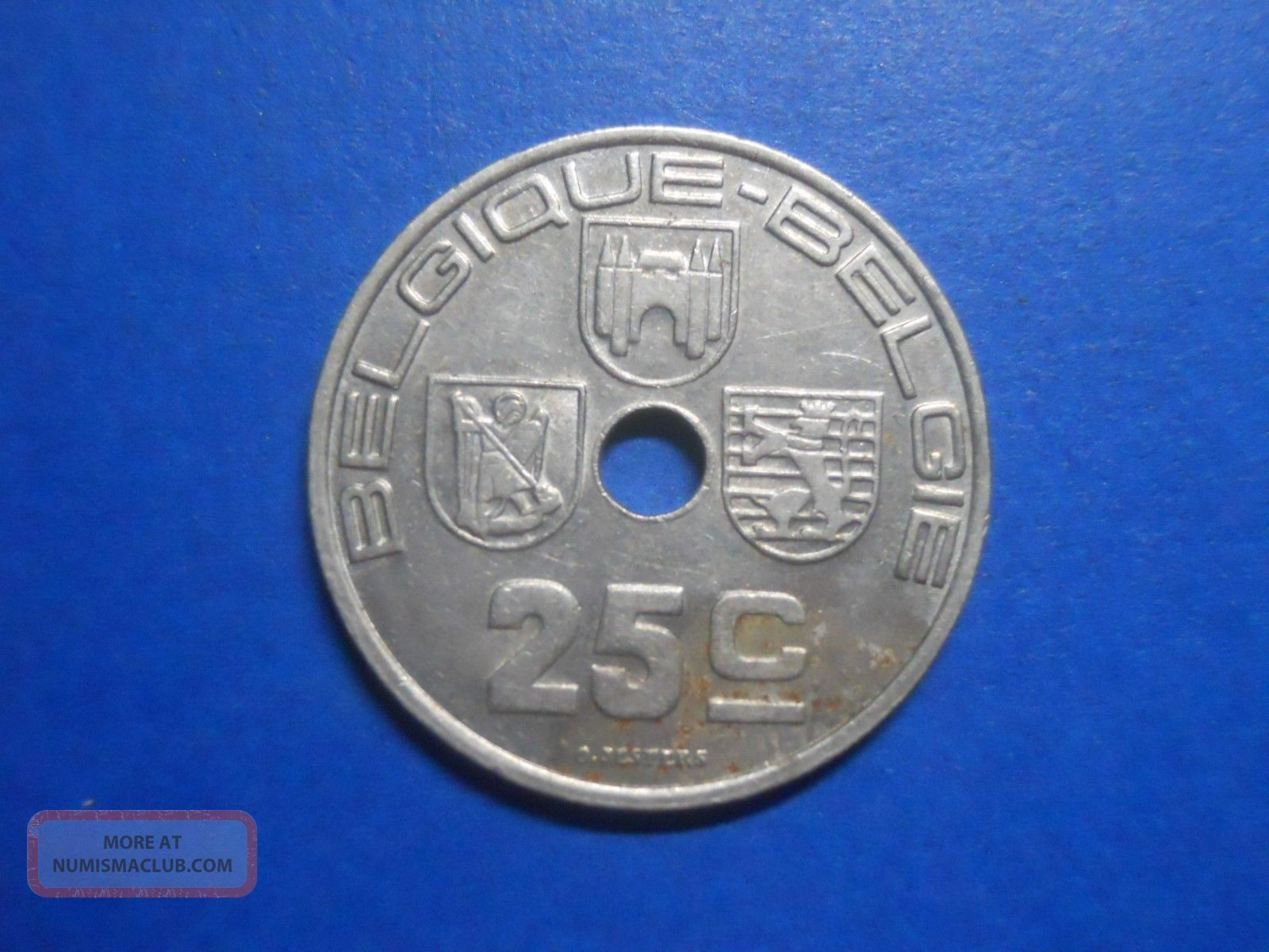 Belgium - Nickel Brass - 25 Centimes - 1939 Europe photo