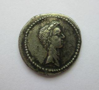 Julius Caesar Roman Silver Denarius photo
