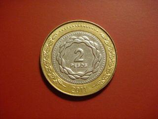 Argentina 2 Pesos,  2011 Coin photo