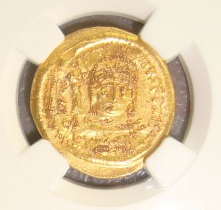 Ad 565 - 578 Justin Ii Ancient Byzantine Gold Solidus Ngc Au 4/5 2/5 photo