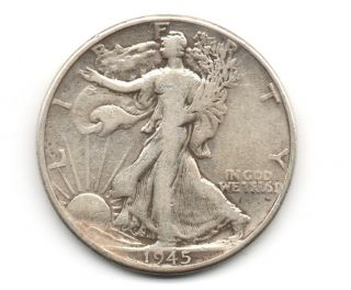 Walking Liberty Half Dollar 1945 - P photo