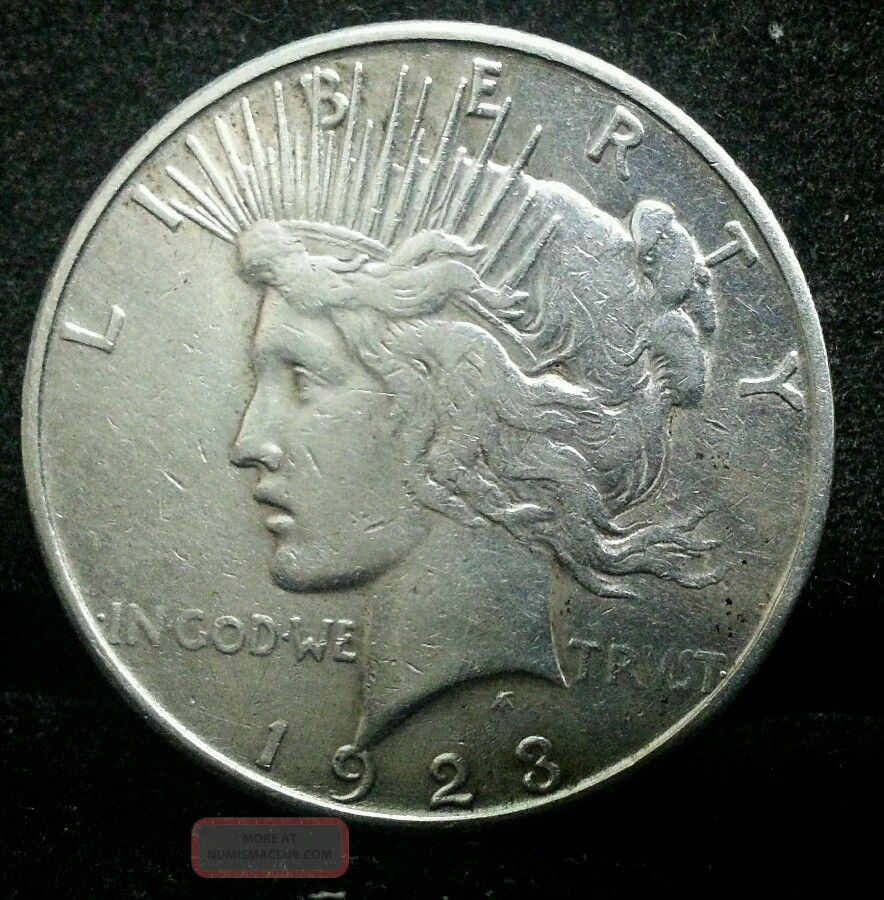 1923 S Peace Silver Dollar From The San Francisco