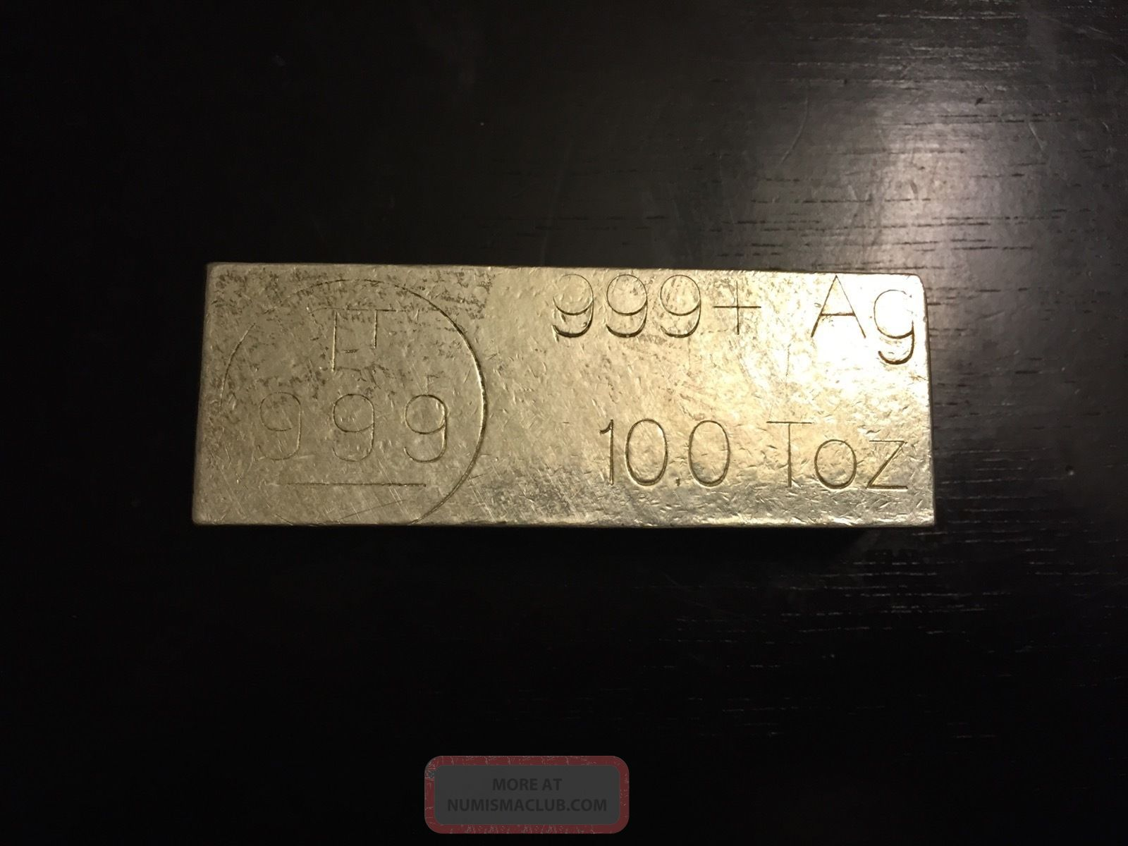 10 Oz 999 Silver Bar Made By Pyromet Refinery Rare Kit