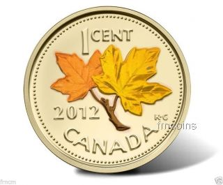 Canadian 2012 - Last Penny - Gilded - 24k And Colored Summer.  - photo