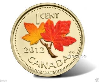 Canadian 2012 - Last Penny - Gilded - 24k And Colored Autumn.  - photo