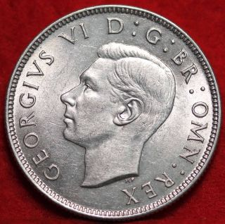 Uncirculated 1945 Great Britain Silver 2 Shillings Foreign Coin photo