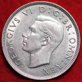 Circulated 1944 Great Britain Silver 2 Shillings Foreign Coin photo