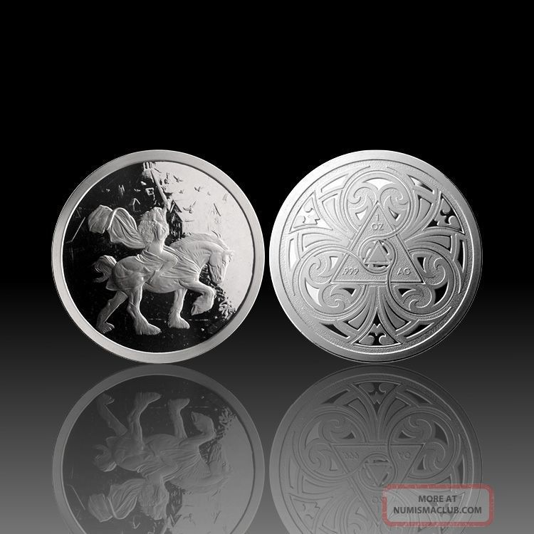 1 Oz Silver Coin Proof Steve Ferris Lady Godiva Numbered