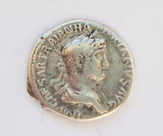 Roman Imperial Silver Coin - Hadrian Ar Denarius,  119 Ad To 122 Ad photo