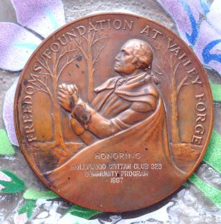1968 Freedom ' S Foundation At Valley Forge Hollywood Civitan Club Medallion photo
