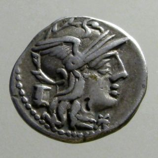 Marcia 8 Silver Denarius_roman Republic_victory In Biga_2 Ears Of Corn photo