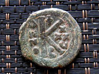 Justinian I 527 - 565ad Ae Half - Follis Large