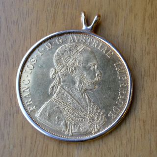 1915 Austrian 4 Ducat Gold Coin.  986 Fine Purity Austria Restrike photo