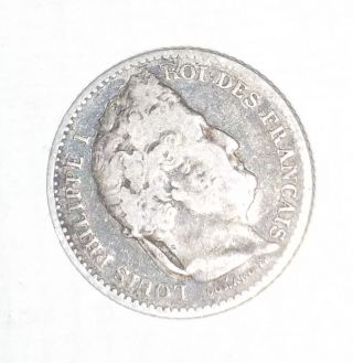 Ancient Coin 25 Cent France Louis Philippe 1845 Silver photo