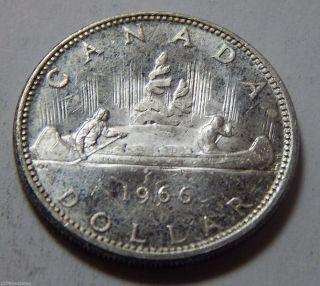 1966 Canada Silver Dollar Coin -.  600 Troy Oz Asw photo