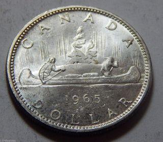 1965 Canada Silver Dollar Coin -.  600 Troy Oz Asw photo