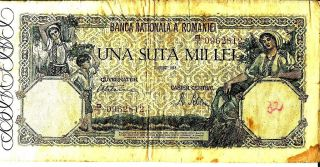 Romania 1945 100,  000 Lei Currency photo