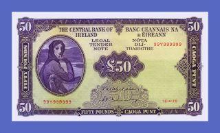 Ireland Republic - 50 Pounds 1975s - Reproductions - photo