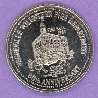 1989 Vegreville Alberta Trade Token Or Dollar 1928 Fire Hall Pysanka photo