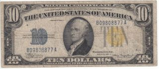 1934a $10 North Africa $10 Silver Certificate Circulated photo