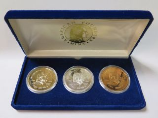 1789 - 1989 George Washington To George Bush Gold,  Silver,  & Bronze Commemoratives photo