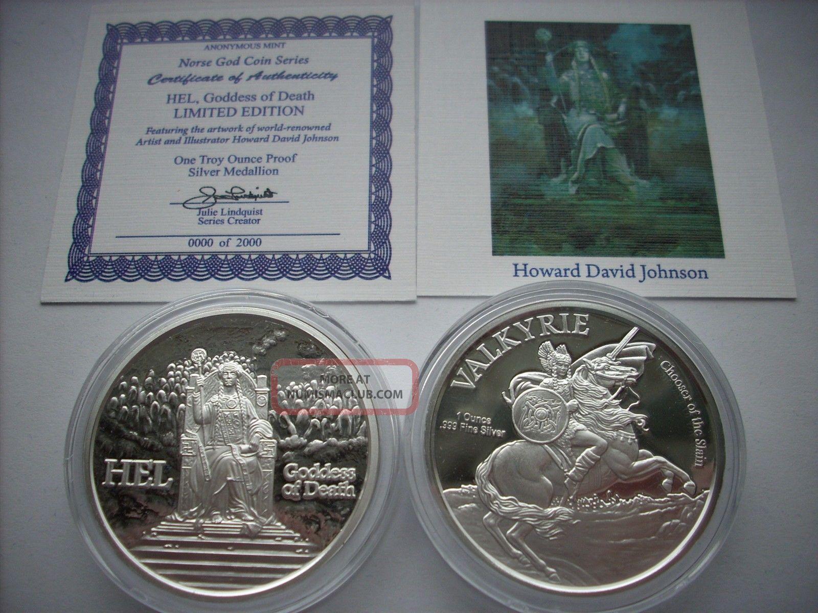1 Oz Silver Coin Hel Valkyrie Goddess Of Death Loki