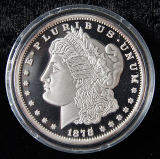 1878 $1 Morgan Dollar 2oz.  999 Pure Silver Proof United States Coin (0516) photo