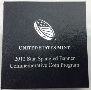 2012 Star Spangled Banner Commemorative Proof Silver Dollar photo