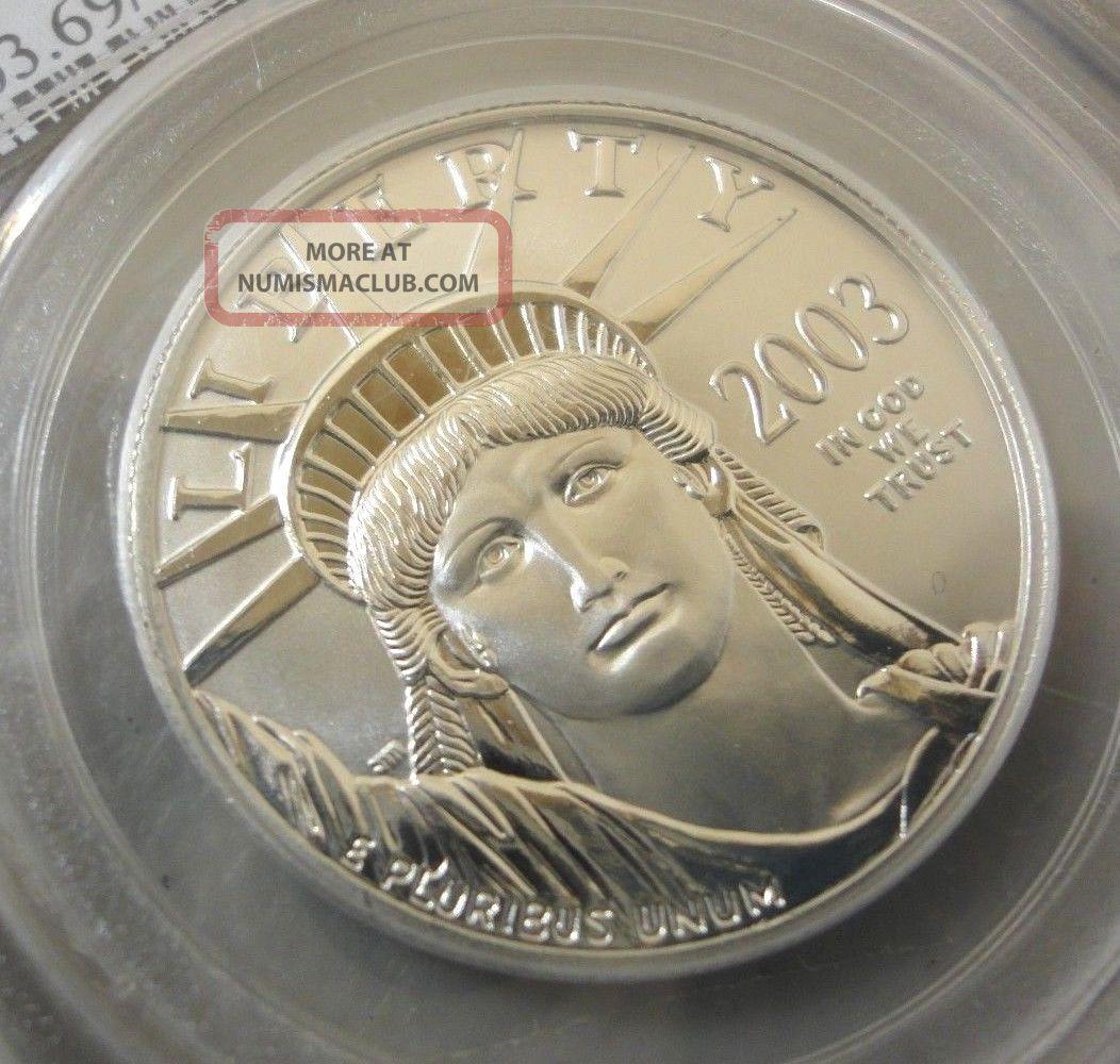 Pcgs Ms69 2003 American Eagle 1 Oz 9995 Platinum