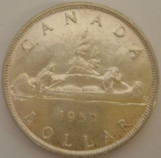 1953 Sf Canada Silver Dollar - Au50 photo