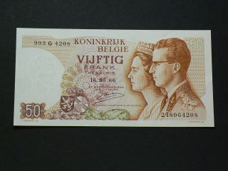 Kingdom Of Belgium,  1966,  50 Francs,  Uncirculated 2023 photo