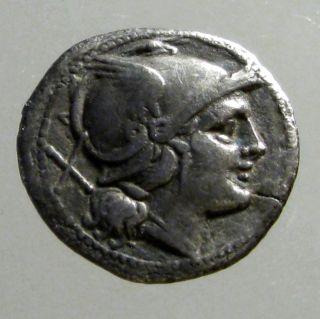 Anonymous Silver Denarius_roman Republic_the Riding Dioscuri_early Denarius photo