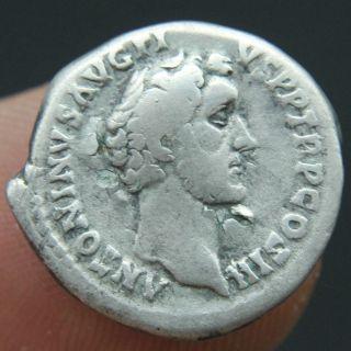 Roman Silver Denarius Of Antoninus Pius.  138 - 161 Ad Rev: Concordia F, photo