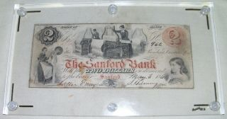 1860 Sanford,  Me - The Sanford Bank $2 May 3,  1860 Red photo