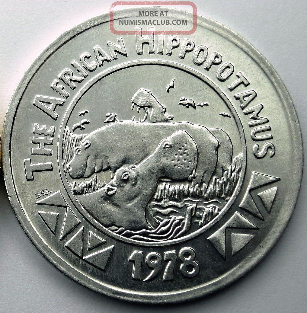 African Hippopotamus Token - 1978 Zulu (blaine Kern) Aluminum Doubloon Exonumia photo