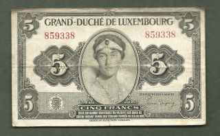 Luxembourg 5 Francs 9338 99 Cents Or Less photo
