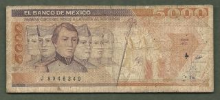 Mexico 5000 Pesos 8349 99 Cents Or Less photo