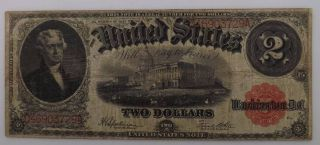 1917 $2 Legal Tender Large Note Boxfs6 photo