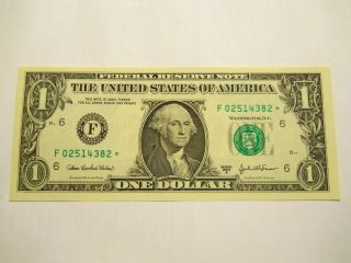 Uncirculated 2003a $1.  00 Star Note photo