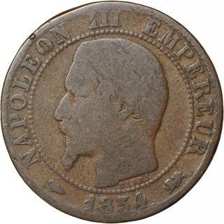 France 5 Centimes,  1854 - D photo