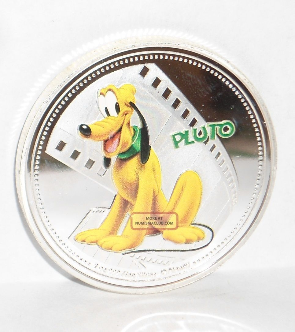 Uncirculated Niue 2014 Disney Pluto Silver Plated Coin 1