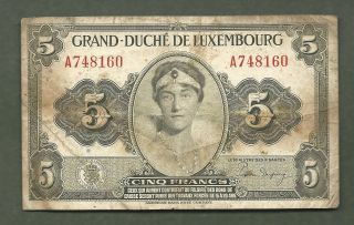 Luxembourg 5 Francs 8160 99 Cents Or Less photo