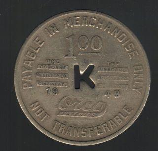 Coal Scrip $1 River Co 1949 Kilsyth West Virginia Fayette Co Wv Old Token photo