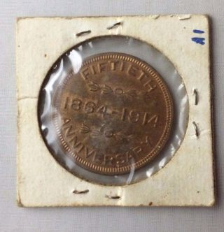 1914 The First National Bank St.  Johnsville,  N.  Y.  Fiftieth Anniversary Token photo