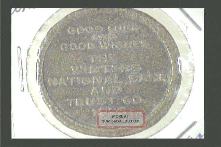 Ohio,  Dayton - The Winters Bank And Trust Co,  1925,  Caesar Dict.  Per.  Peivo? Exonumia photo