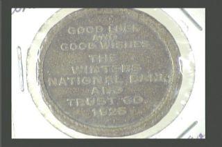 Ohio,  Dayton - The Winters Bank And Trust Co,  1925,  Caesar Dict.  Per.  Peivo? photo