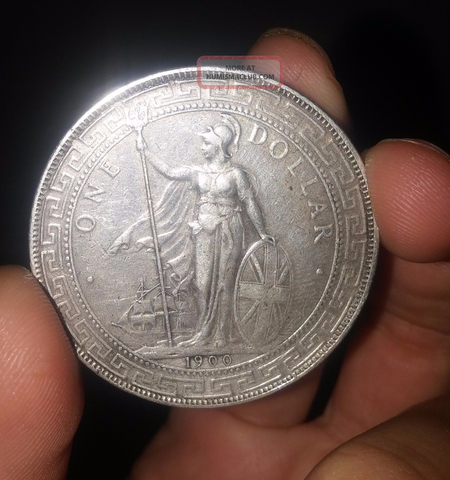 Great Britain Uk 1900 B One Dollar Trade 1 Vf Xf Silver