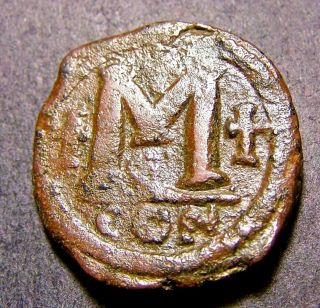 Justinian I,  Christian Crosses,  6th Cent Ad Constantinople,  Large Byzantine Coin photo