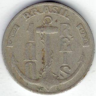 Brazil: 100 Reis 1936 Km536 - Good,  & 400 Reis 1936 Km539 - Vg photo