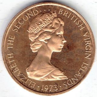 British Virgin Islands 1 Cent 1973 Fm (p) Km1 Proof - Bu photo
